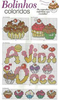 Ponto Cruz da Drayzinha: Graficos cupcakes