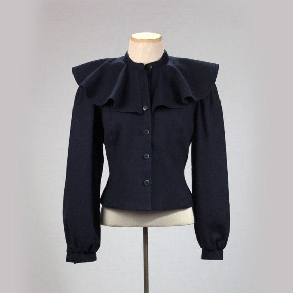 1940s blazer women S vintage navy blue fitted by MadCrushVintage ...