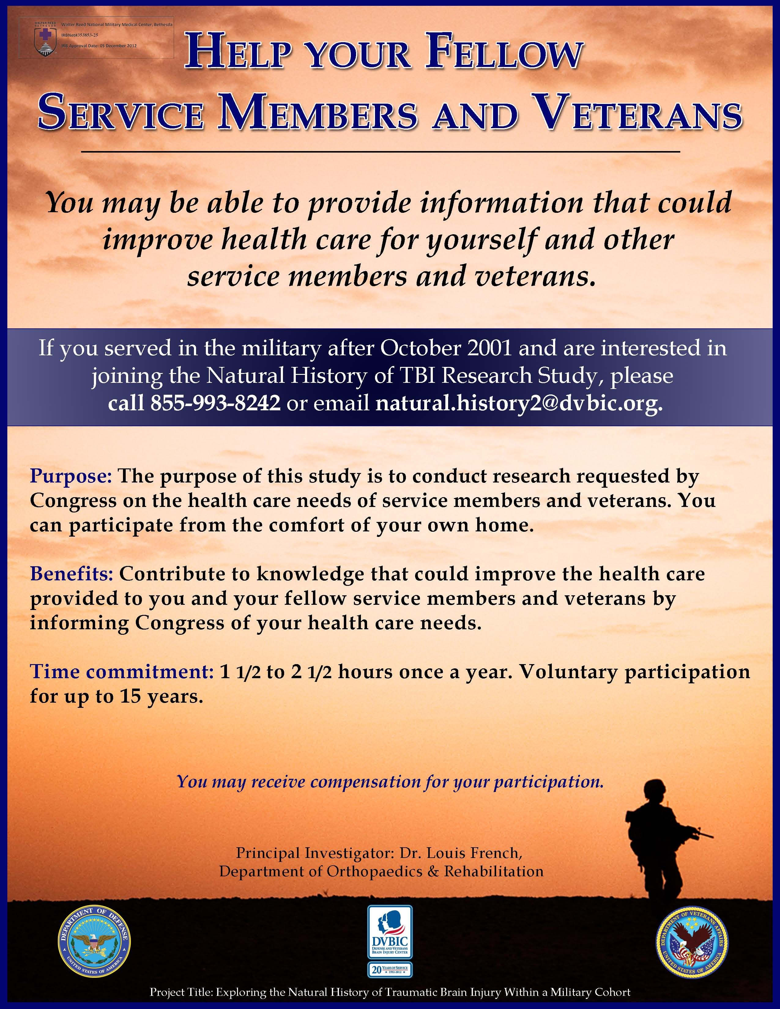 Defense and veterans brain injury center a study for