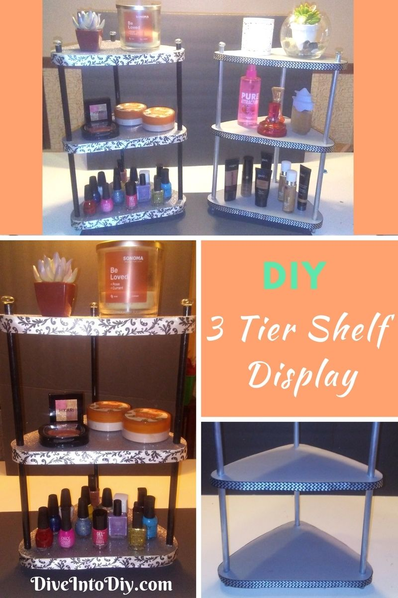 Get Your Vanity Organized With This Diy 3 Tier Shelf Display Using