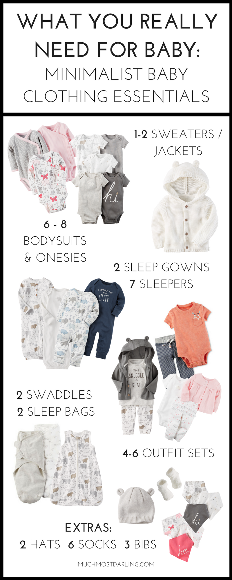 3372b4d7e00a  AD Wondering how many baby clothes you need for each size  Come see my  first year essentials for a minimalist capsule wardrobe for your baby at  Carter s.