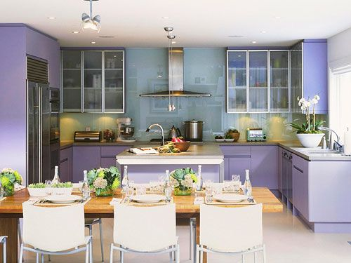 Color Code It S Easy Being Purple Purple Kitchen Lavender Kitchen Kitchen Colors