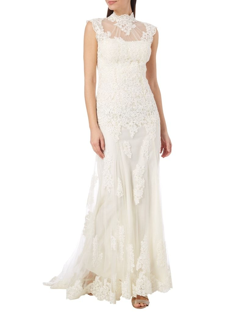 UNIQUE Brautkleid im Meerjungfrau-Stil mit Schleppe in Weiß online
