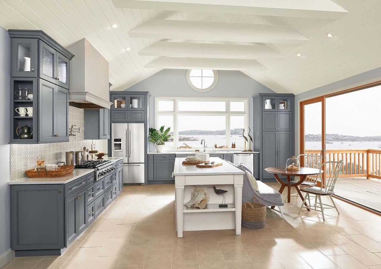 The Masterpiece Collection Coleson Lagoon Maple With Cimmaron Moonshine Maple Custom Kitchen Cabinets Kitchen Cabinet Colors Kitchen Design