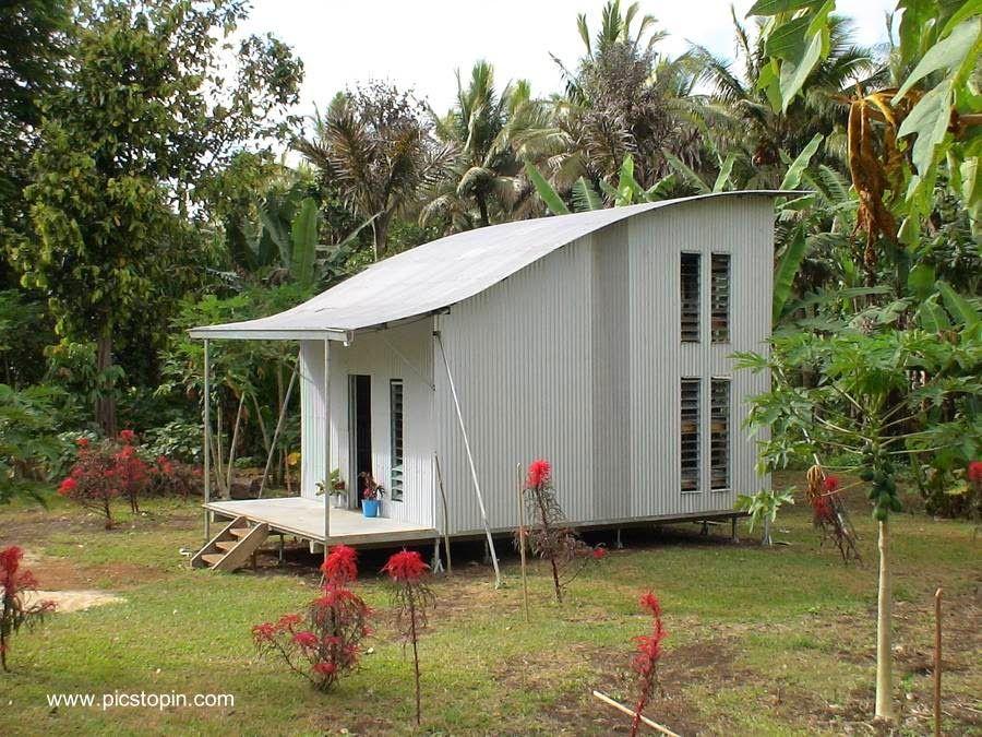 Casa de bajo costo de acero y chapas acanaladas tenencias arquitectonicas pinterest casa - Casas de acero precios ...