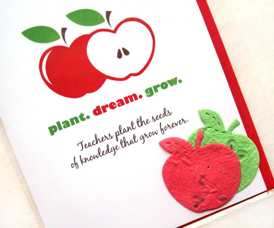 Cute thanksgiving cards for teacher with apple themed card