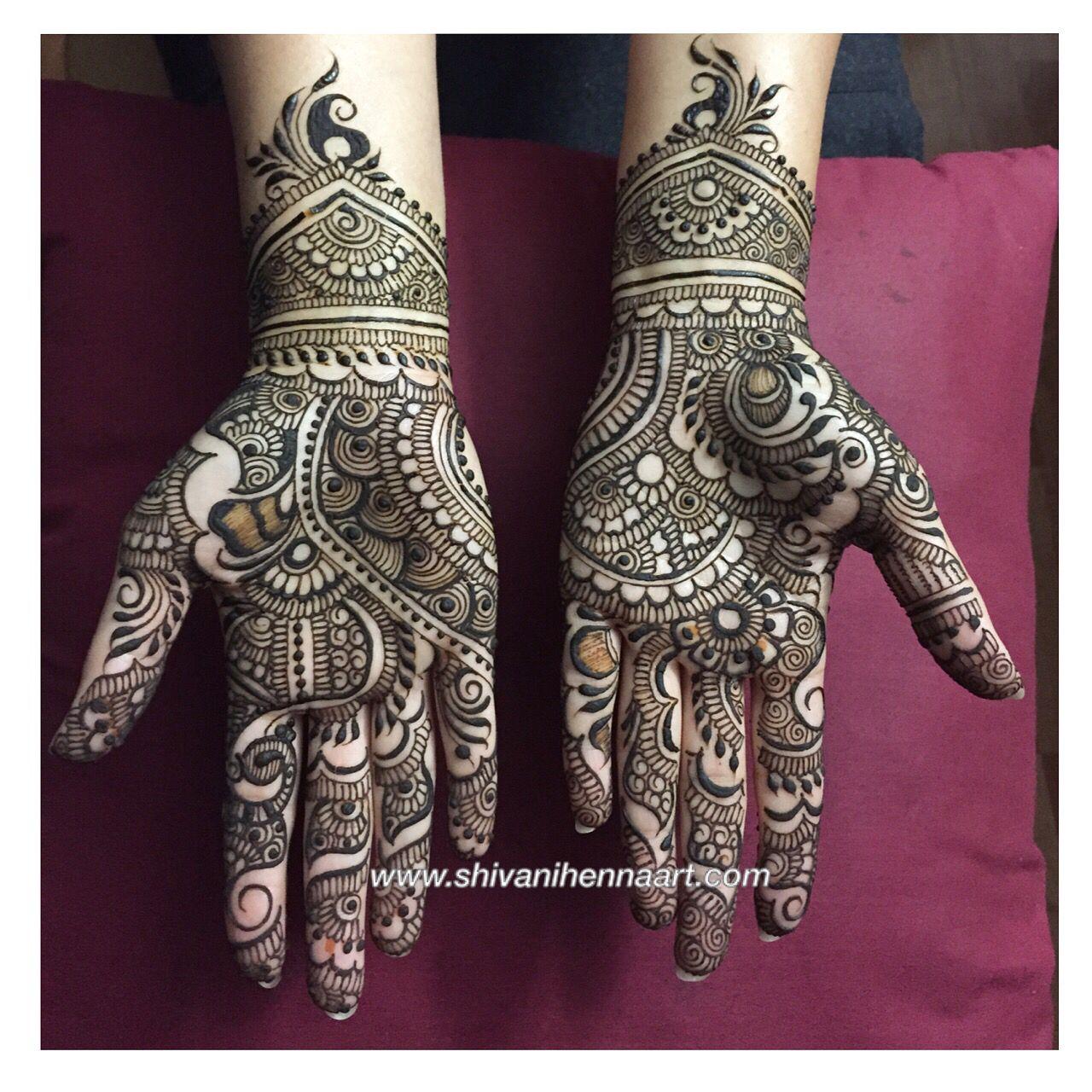 easy bharwa mehndi design