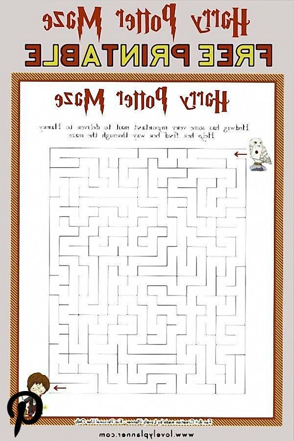 Harry Potter Maze  Free Printable Kids Activity Sheet Harry Potter Maze  Free Printable Kids Activity Sheet
