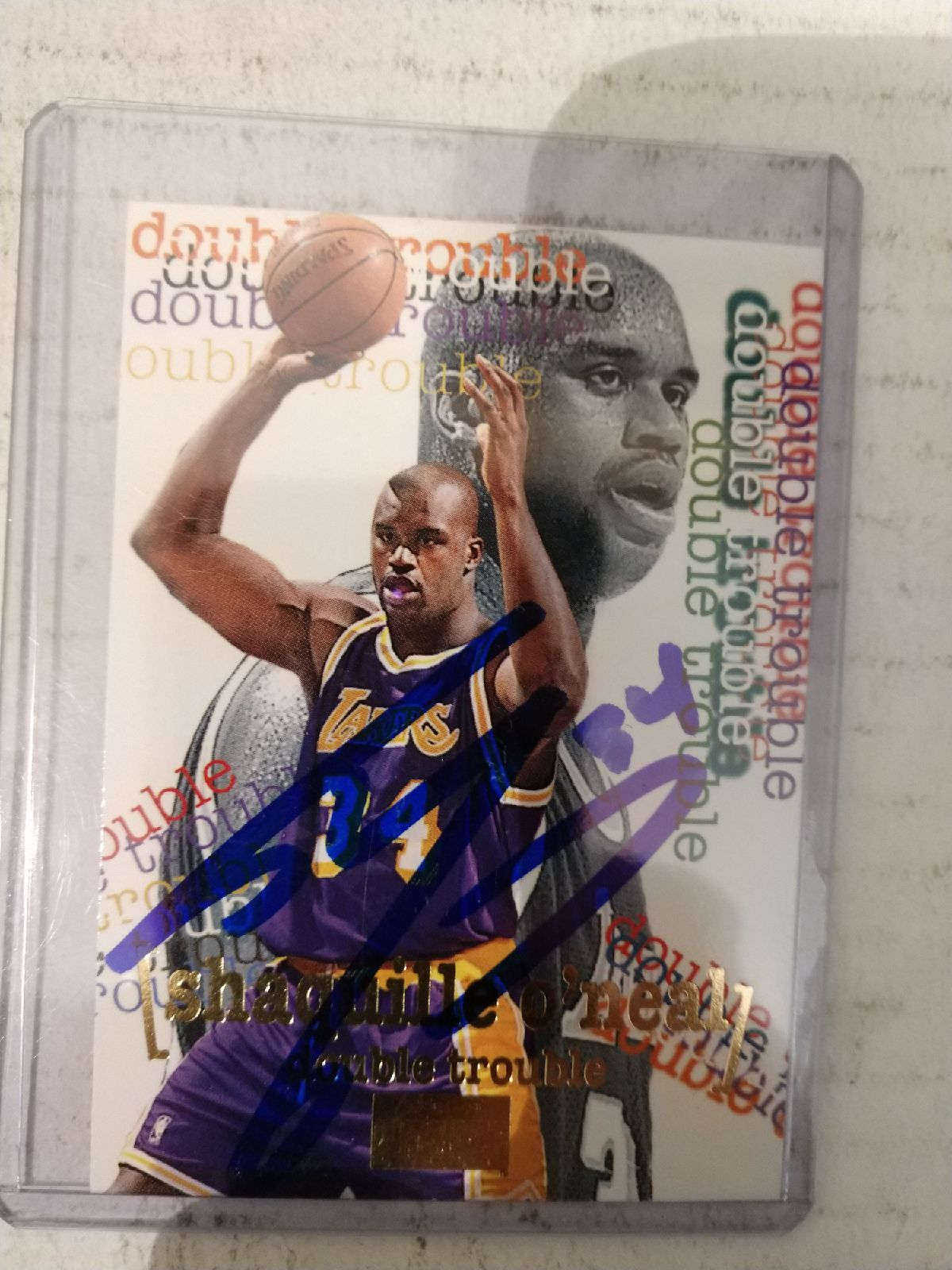 Shaquille O'Neal Autograph sports card Shaquille o'neal