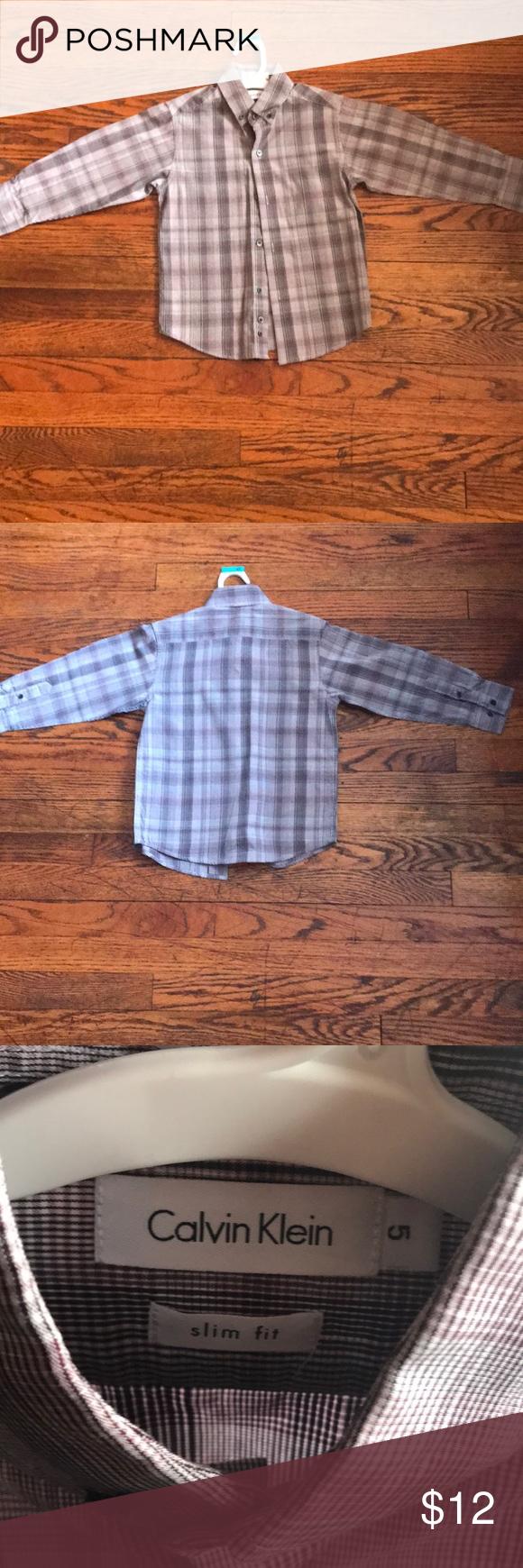 Calvin klein dress shirt for boys size slim my posh closet