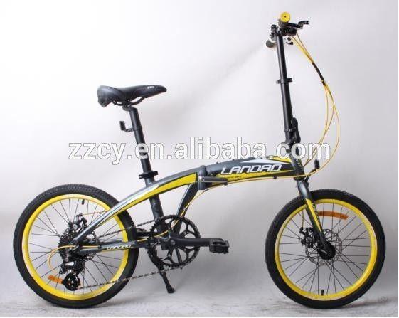 Bicicleta plegable tipo y marco de aluminio material 20 pulgadas ...
