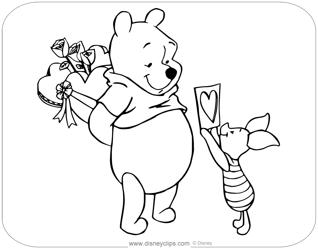 Nice Winnie The Pooh Coloring Pages Disney Clips Ausmalbilder Ausmalen Bilder