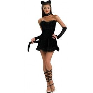 d guisement chat noir femme sexy halloween costume. Black Bedroom Furniture Sets. Home Design Ideas