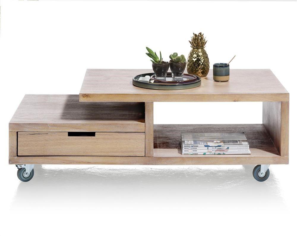 box table basse 60 x 120 cm 1 tiroir tt 2 niches