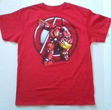 Marvel Avengers Ironman Youth Boys Character T-Shirt Red Short Sleeve Size 14/16