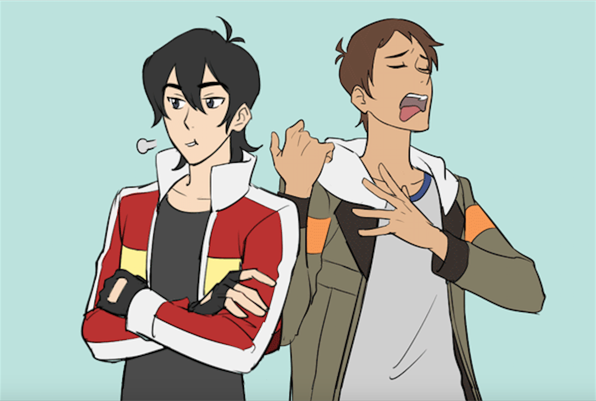 Keith And Lance From Voltron Legendary Defender