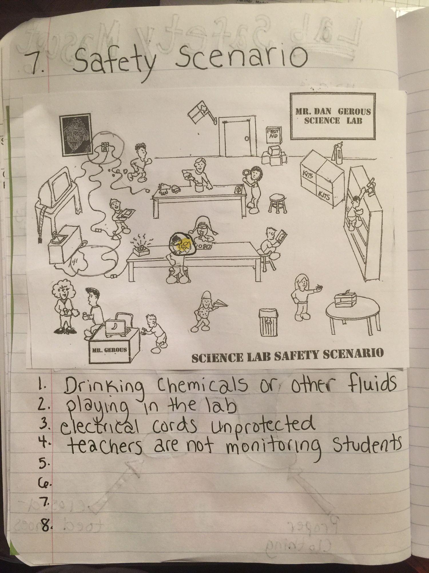 Lab Safety Scenarios Worksheet