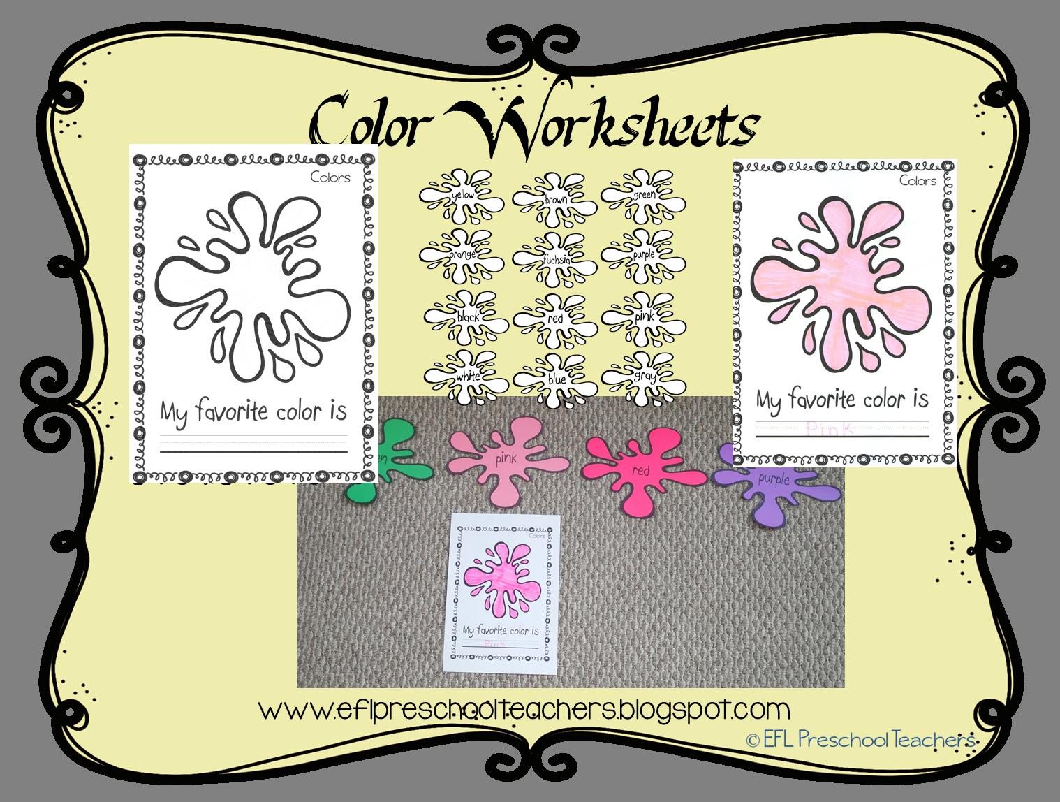 Esl Color Unit Worksheet My Favorite Color And Then Amke A Graph Color Worksheets Worksheets Esl Teaching [ 1148 x 1518 Pixel ]
