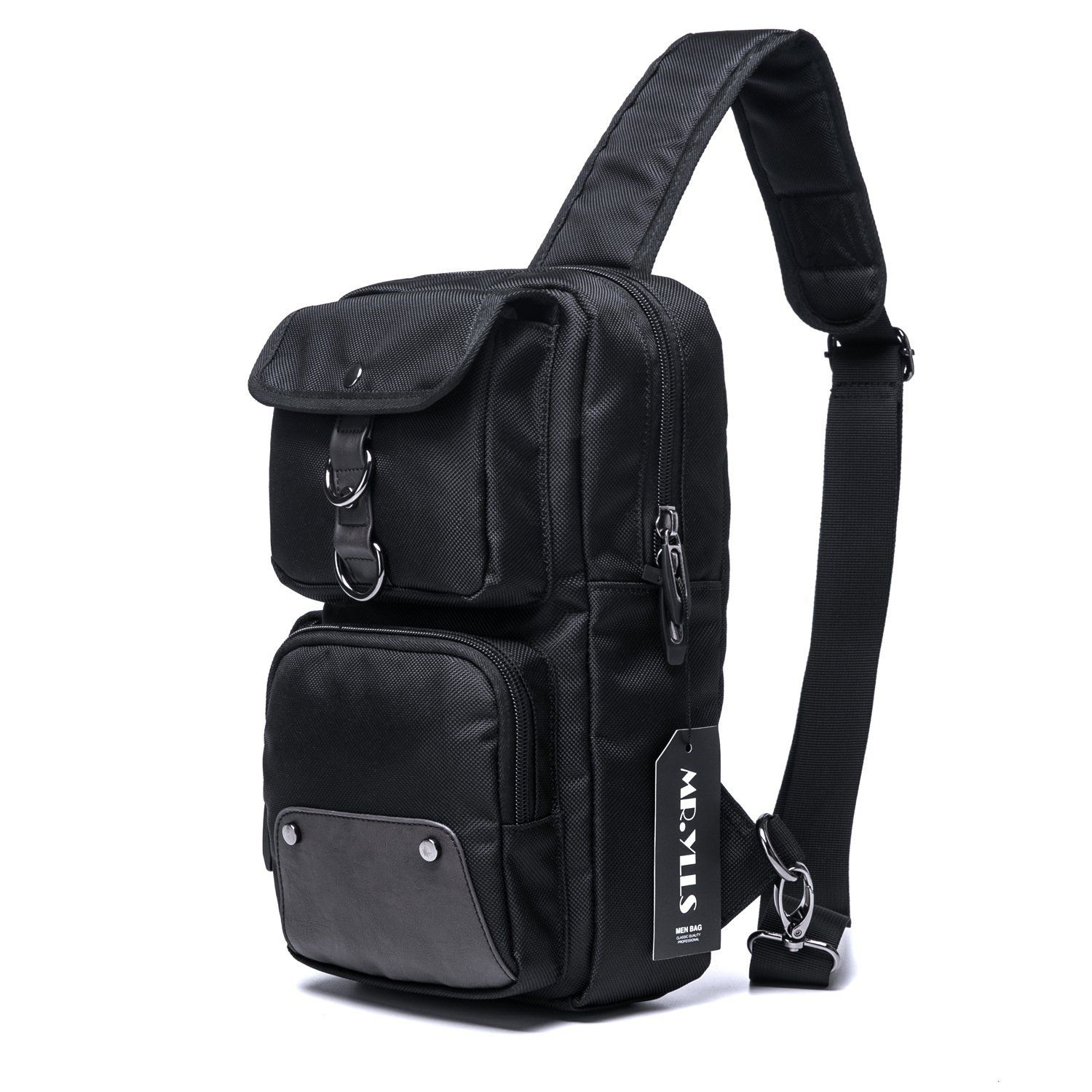 MR.YLLS Hiking Sling Bag Men Oxford Outdoor Chest Bags