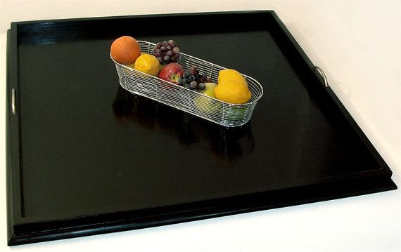 36x36 Solid Black Ottoman Tray Serving Tray By Jeremycreations 110 00 Ottoman Tray Black Ottoman Serving Tray