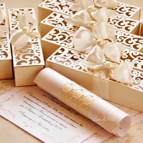 Rolled Wedding Invitations: Wedding Box Invitations Scroll Roll Card Template Swirl