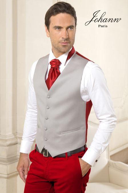 Costume Rouge Et Gris Costume Mariage Tenue Marie Homme