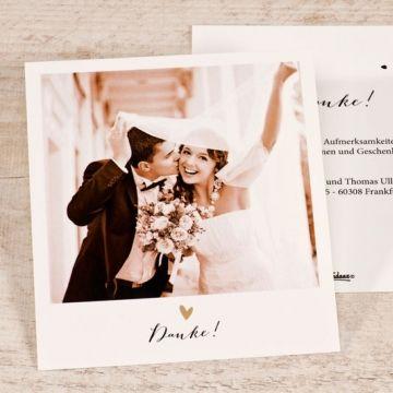 Polaroid Dankeskarte Hochzeit in 2019  Danke Hochzeit