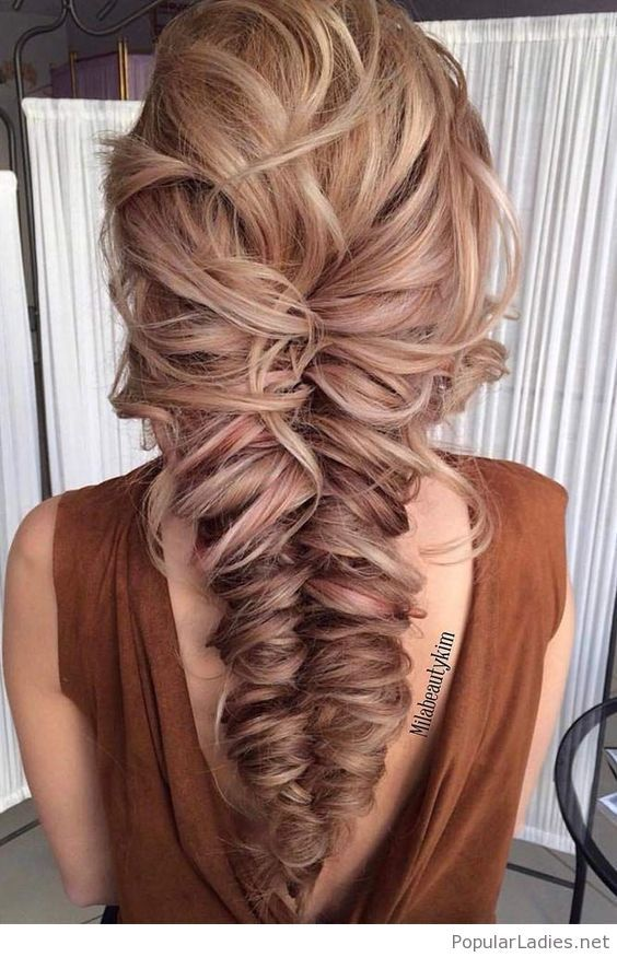 Nice large messy braid #messybraids