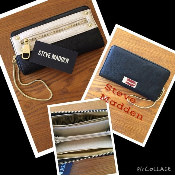 Steve Madden color block wallet/wristlet NWT Just in Steve Madden NWT colorblock wallet/wristlet 7 3/4 x5  Steve Madden Bags Clutches & Wristlets