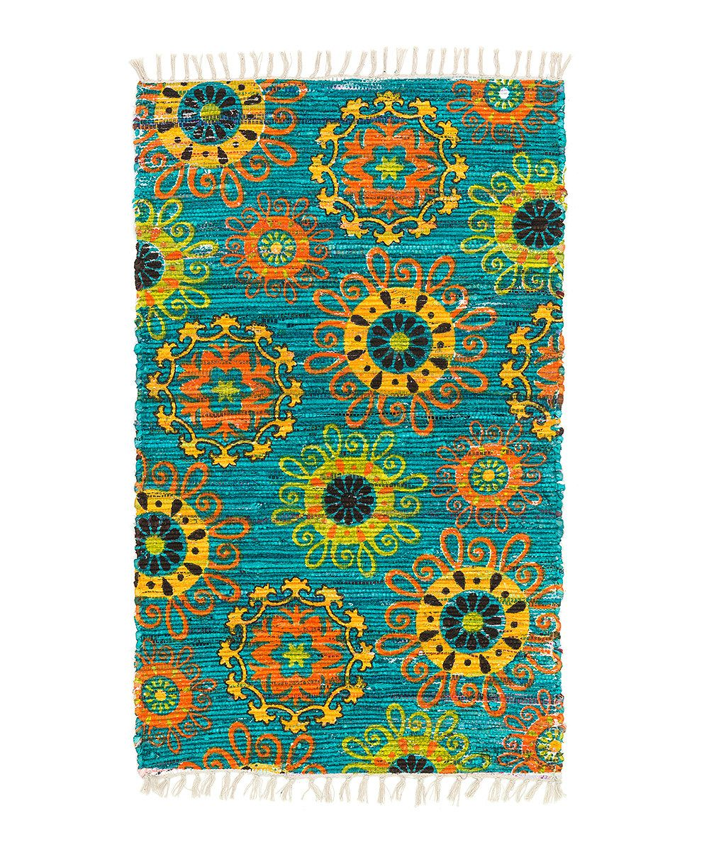 Look at this Tealriffic Aria Rug on #zulily today!