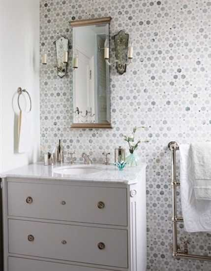Bathroom Wallpaper Ideas | ... Bathroom Design, Light Bathroom Wallpaper  And White Decorating