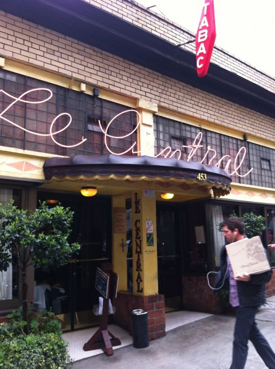 Le Central Bistro In San Francisco Ca Oldest French Restaurant Sf Opened 1974
