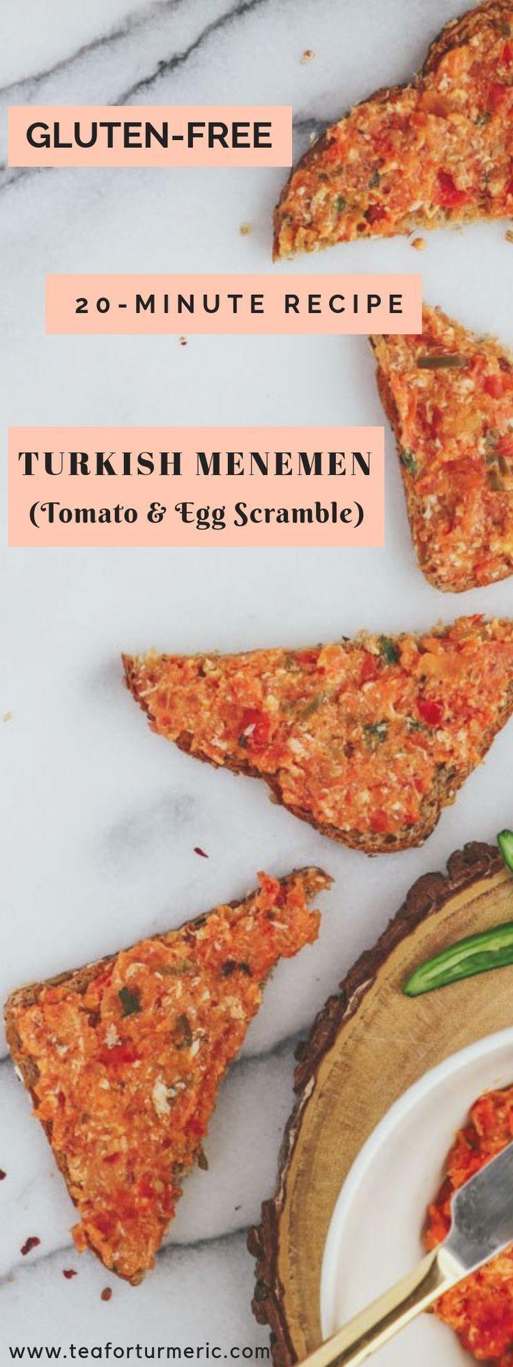 Traditional Turkish Menemen (Tomato and Egg Scramble)