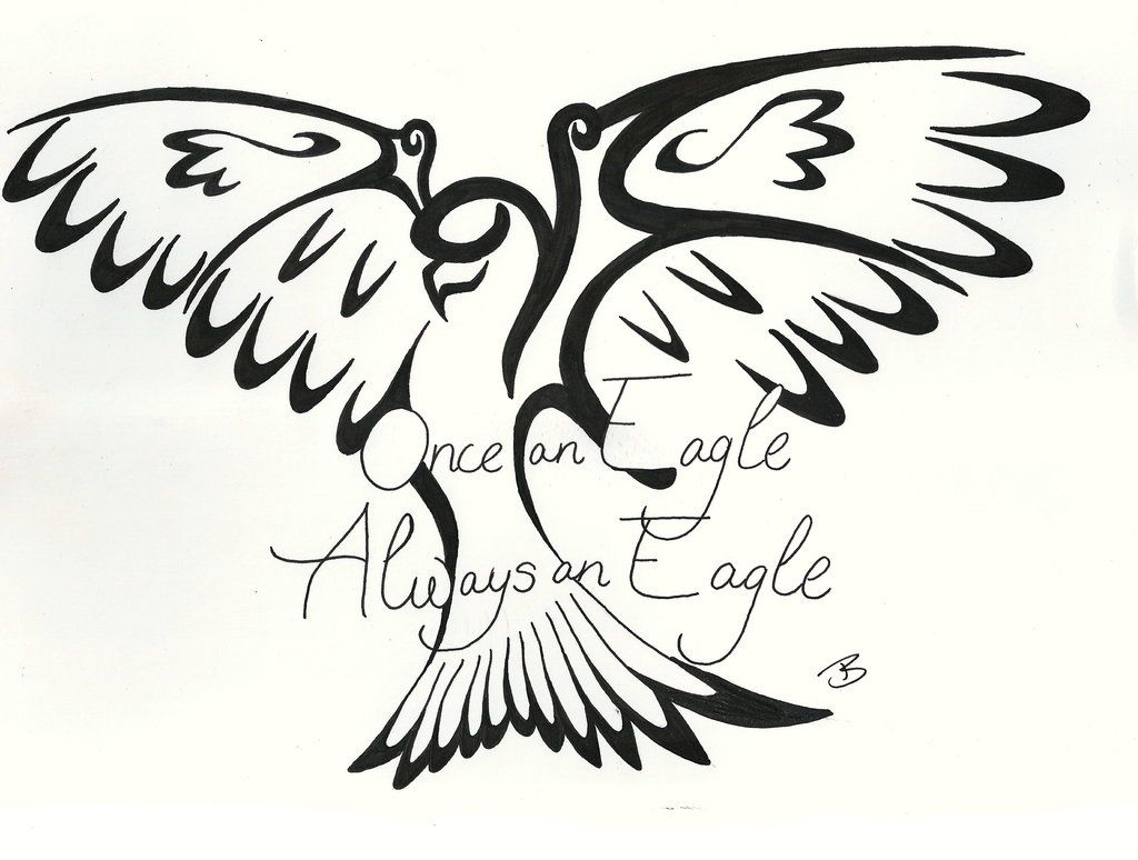 Tribal Eagle Scout Tattoo Design By Baroquette On