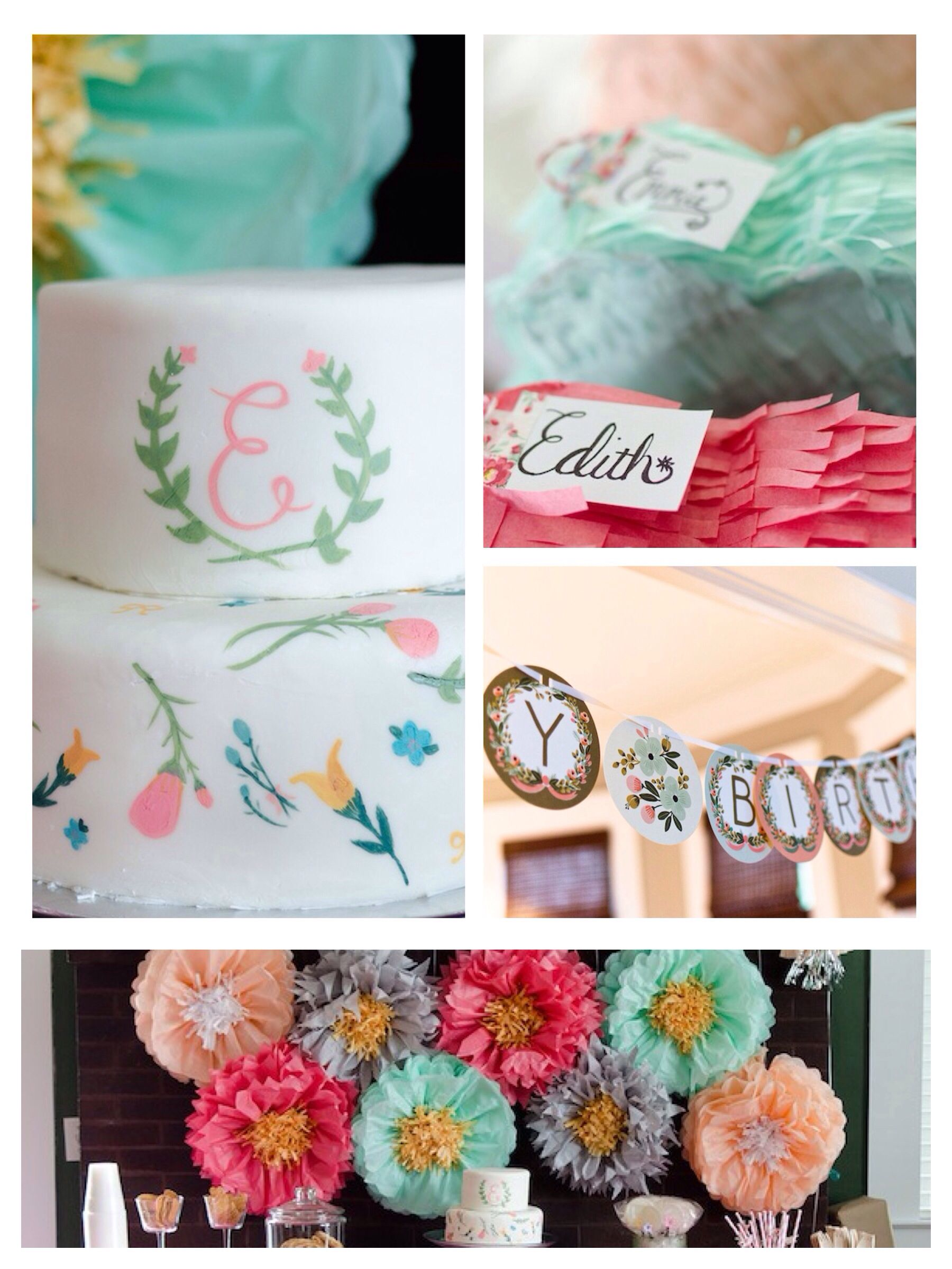 Floral Third Birthday Party Pinterest Themed Birthday Parties