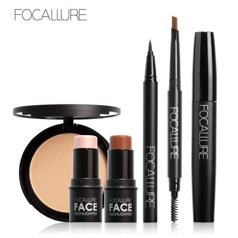 1set 6pcs Makeup Set Mascara And Eyeliner Liquid Eyebrow Penceil And