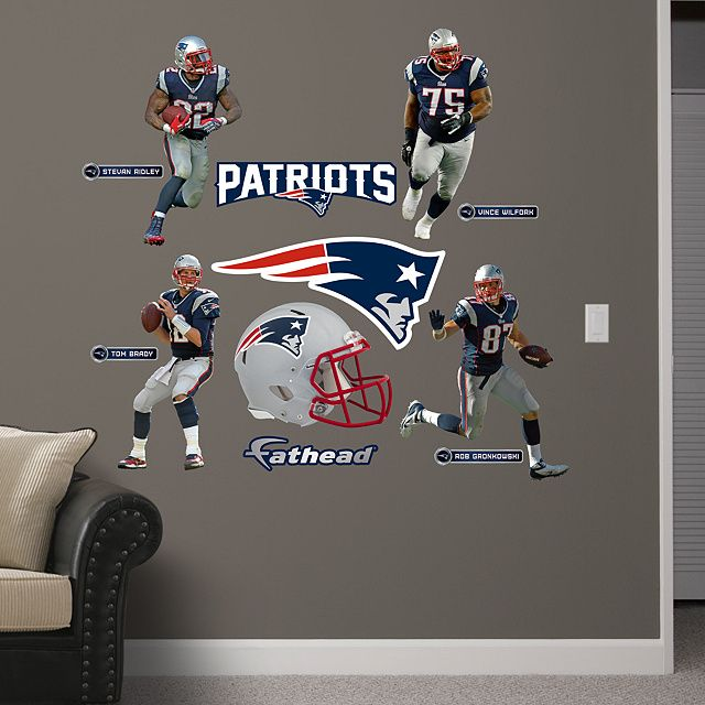 New england patriots power pack real big fathead peel - New england patriots bedroom accessories ...