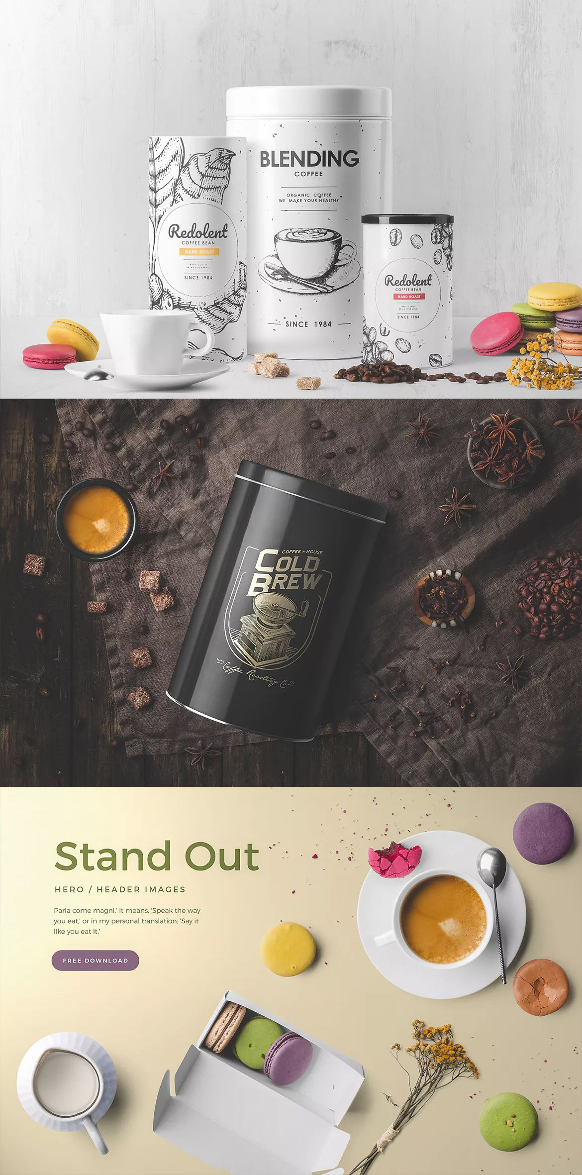 Download Coffee Packaging Mockup By Genetic96 On Envato Elements Coffee Packaging Packaging Mockup Food Packaging Design