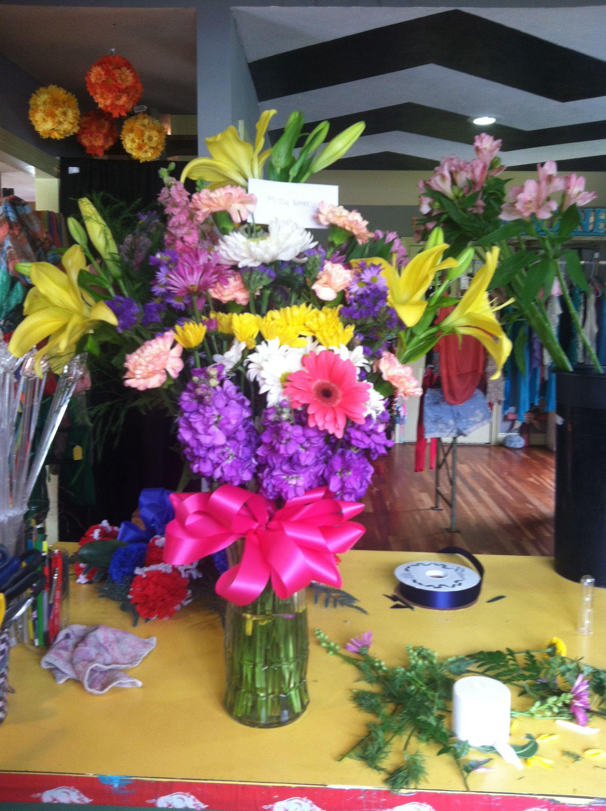 Spring mix flower arrangement i made at work flower arrangements spring mix flower arrangement i made at work mightylinksfo