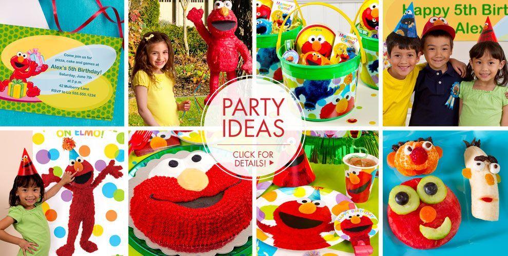 Elmo Party Supplies Elmo Birthday Party Ideas Party City Sesame Street Birthday Party Elmo Birthday Party Elmo Party Supplies
