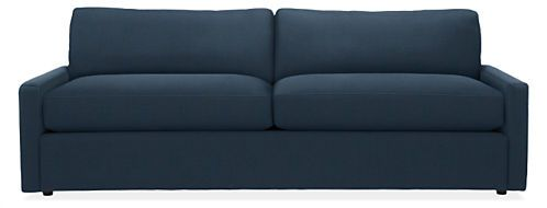 Take modern relaxation to a new level of style. Our Easton sleeper sofa has plush spring-and-down cushions with a low, lounge design. The thin arms mean more room for seating, while the linear profile creates a contemporary look at a great value.