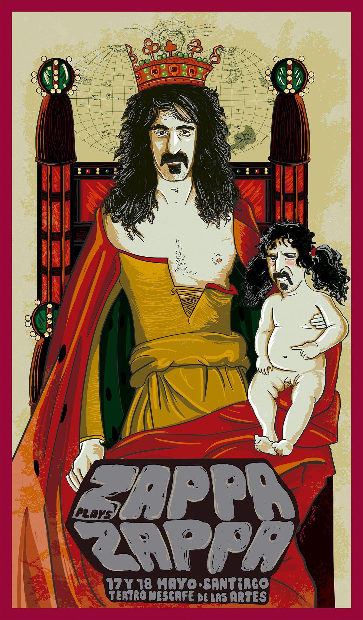 ZAPPA plays ZAPPA - Po-Jama Gig Poster on Jofre Conjota Behance