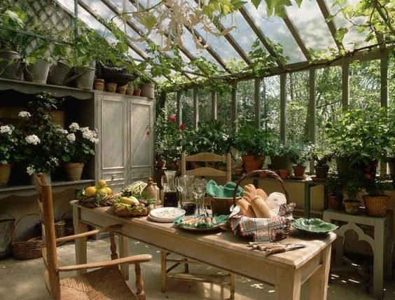 Outstanding Green House Garden Room Dining Dream Home In 2019 Complete Home Design Collection Barbaintelli Responsecom