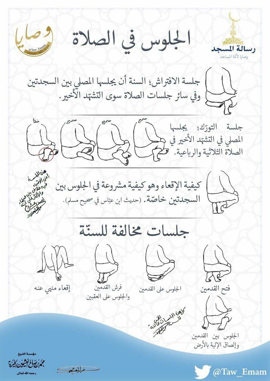الجلوس في الصلاة Islam Beliefs Islam Facts Islamic Phrases