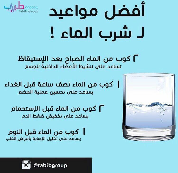 افضل مواعيد لشرب الماء Health Info Medical Information Health