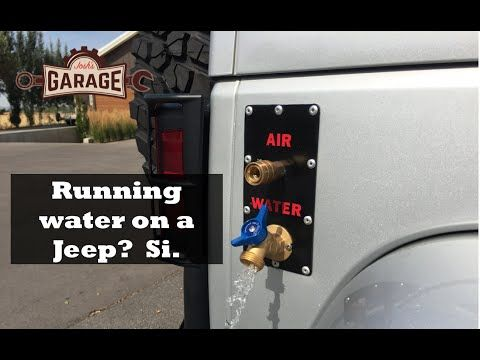 Running Water And Compressed Air Accesible From Outside Of Jeep AEV Bumper ARB Dual Compressor