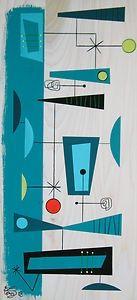 El Gato Gomez Painting Mid Century Modern Retro Googie Abstract Atomic 1950s Mod   eBay