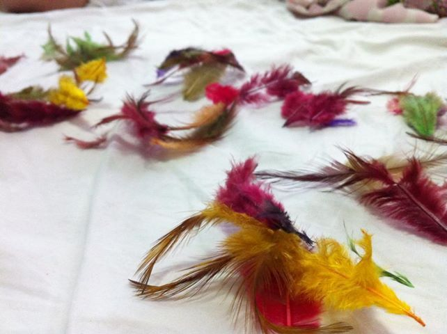 Wonders of God Abba Yeshua by the Holy spirit glory feathers in all colors