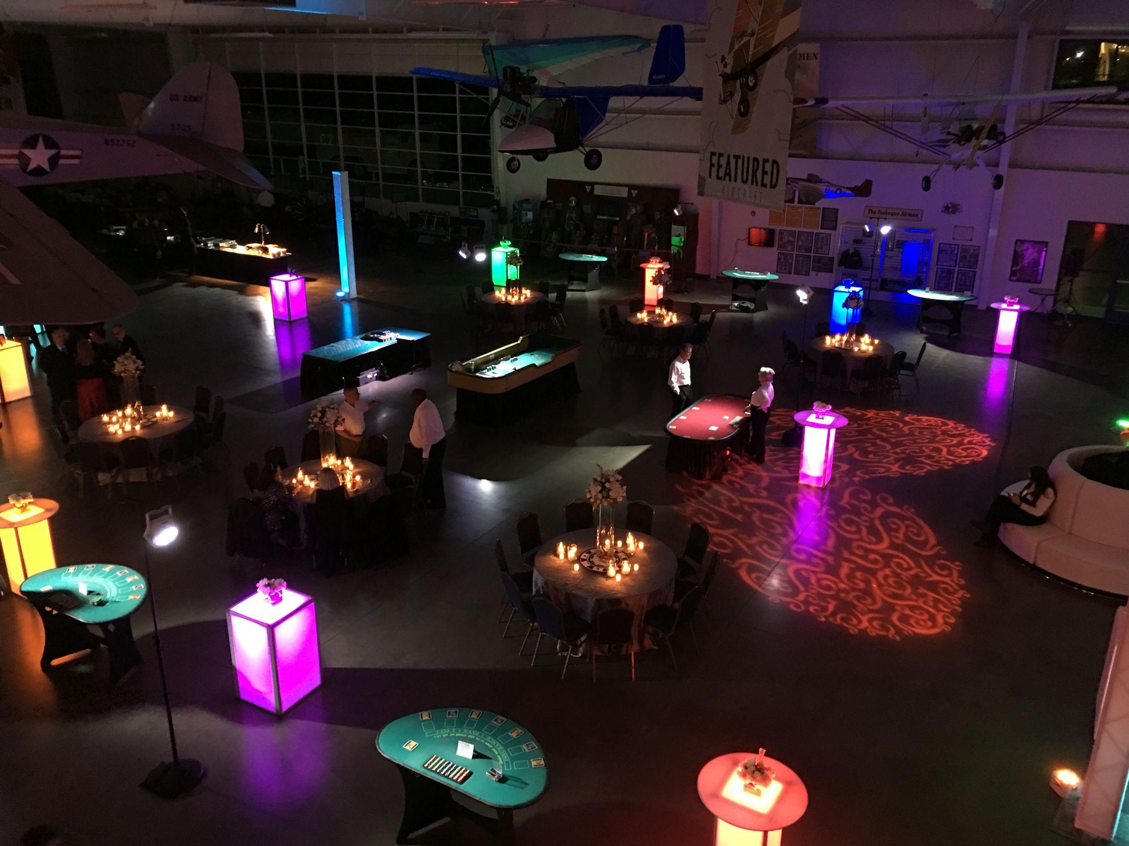 lighting and dj at ther aerospace museum sacramento ca 2015