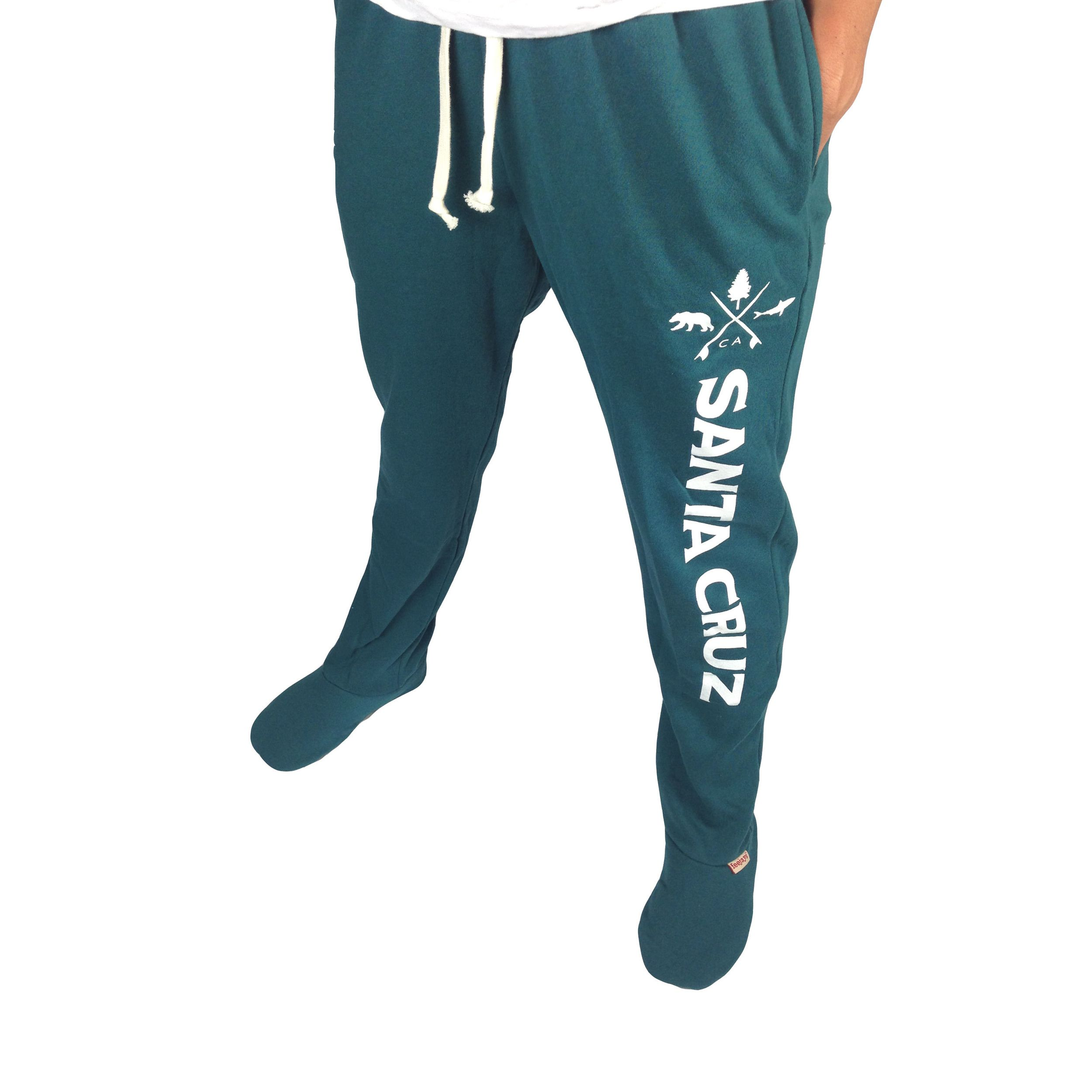 Choose Las Santa Cruz Dark Teal Feejays Sweatpants With Feet